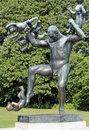 Vigeland park oslo norway an angry man scatter the babies sculpture in Royalty Free Stock Photos