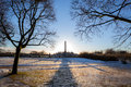 Vigeland park oslo winter norway Royalty Free Stock Photo