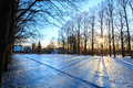 Vigeland park winter oslo norway sunrise at Stock Photo