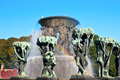 The vigeland's fountain Royalty Free Stock Photography