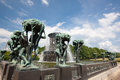 Vigeland sculpture park one of most popular places in oslo norway Royalty Free Stock Images
