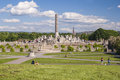 Vigelands park sculptures and panoramic view in in oslo Royalty Free Stock Photography
