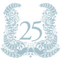 Vignette with 25th anniversary Royalty Free Stock Photo