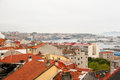 Vigo galicia on rainy day city spain Royalty Free Stock Photo