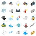 Vigor icons set, isometric style Royalty Free Stock Photo