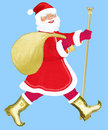 Vigorous Santa Claus Royalty Free Stock Photos