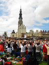 Vii congress of the catholic charismatic renewal czestochowa po poland meeting and worship before jasna gora on may on eve Stock Image