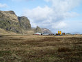 Vik in iceland view of industrial area Royalty Free Stock Photo