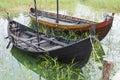 Viking age boats reconstruction Royalty Free Stock Photo
