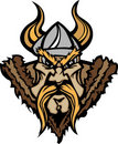 Viking / Barbarian Mascot Cartoon Logo Royalty Free Stock Photography