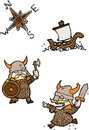 Viking cartoon Royalty Free Stock Images