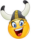 Viking emoticon with a helmet Royalty Free Stock Photography
