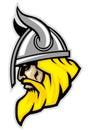 Viking head mascot Royalty Free Stock Photo