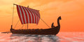 Viking Longship Ventures Royalty Free Stock Photo