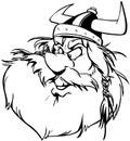 Viking man cartoon design vetora clipart Imagens de Stock