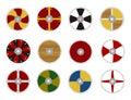 Viking's shields Stock Photos