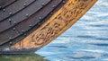 Viking ship bow Royalty Free Stock Photo