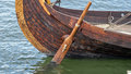 Viking ship rudder Royalty Free Stock Photo