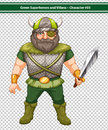 Viking warrior illustration of a male hero Stock Images