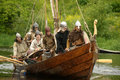 Vikings at Drakkar Stock Photos