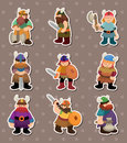 Vikings people stickers Royalty Free Stock Images