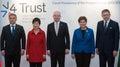 Viktor Orban, Park Geun-hye, Bohuslav Sobotka, Beata Szydlo, Robert Fico Royalty Free Stock Photo