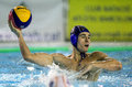 Viktor rasovic of serbia in action during a world league match against spain in barceloneta swimming pool march in barcelona spain Stock Photos