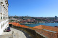 Vila nova de gaia porto portugal is on the south bank of douro river old city is registered as the unesco world heritage Stock Images