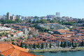 Vila nova de gaia porto portugal is on the south bank of douro river old city is registered as the unesco world heritage Royalty Free Stock Photo