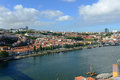 Vila nova de gaia porto portugal is on the south bank of douro river photo taken on dom luis bridge ponte dom luís i old Stock Photography