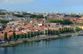 Vila nova de gaia porto portugal is on the south bank of douro river photo taken on dom luis bridge ponte dom luís i old Royalty Free Stock Image