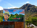 Vilcabamba center of the famous valley of longevity signpost at entrance ecuador Stock Image