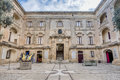 Vilhena palace in mdina malta the forecourt Royalty Free Stock Image
