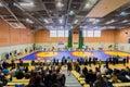 Viljandi estonia february unidentified wrestlers during estonian freestyle wrestling tournament on mat Royalty Free Stock Images