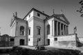 Villa almerico capra detta la rotonda black and white view of situated near vicenza in italy Royalty Free Stock Photography