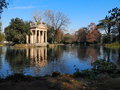 Villa borghese garden and architecture in rome italy Royalty Free Stock Photography