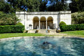 Villa borghese gardens in rome fountain Stock Images