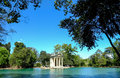 Villa borghese gardens in rome the th century temple of aesculapius Stock Photo