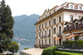 Villa d'este, como lake Royalty Free Stock Images