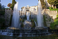 Villa d este fountain of the organ rome tivoli in daylight Royalty Free Stock Image