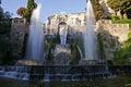 Villa d este fountain of the organ rome tivoli in daylight Royalty Free Stock Image