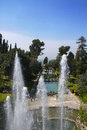 Villa d este in tivoli italy fountain and garden rome Royalty Free Stock Photo