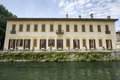 Villa Gaia on the Naviglio Grande Royalty Free Stock Photo