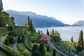 Villa in Lake Como Royalty Free Stock Photo