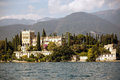 Villa at the lake Garda Royalty Free Stock Photography