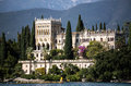 Villa at the lake Garda Royalty Free Stock Photo