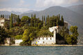 Villa at the lake Garda Stock Photography