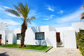 Villa at modern luxury hotel crete greece Royalty Free Stock Photography