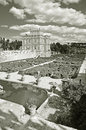 Villa pamphili in rome italy panorama of beautiful with italian garden Royalty Free Stock Photos