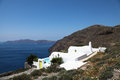Villa on santorini island in the cyclades greece Royalty Free Stock Images